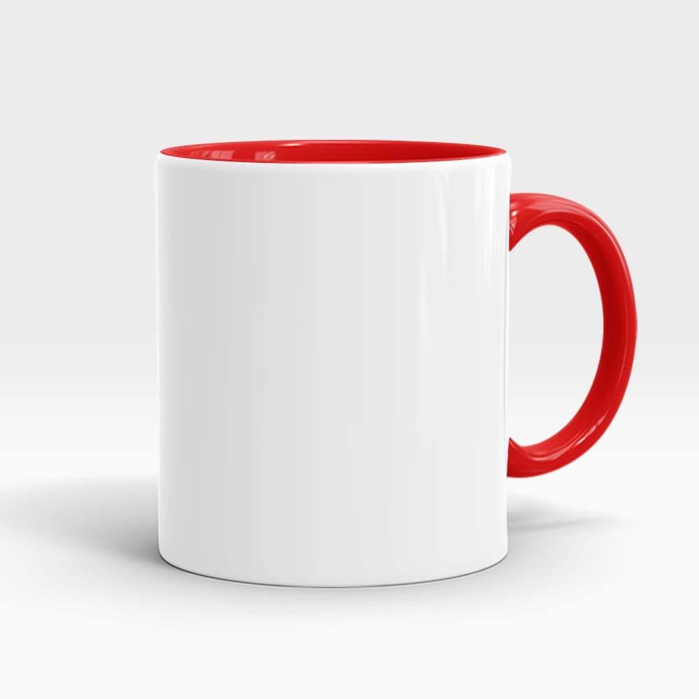 mok wit met rood