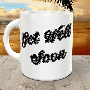 Get Well Soon met tekst